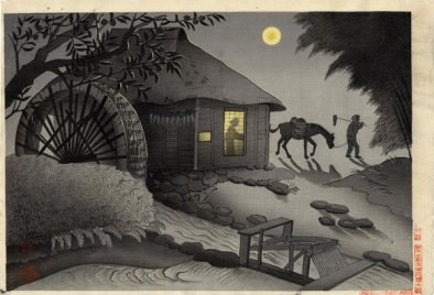 Night Scene of Water Mill