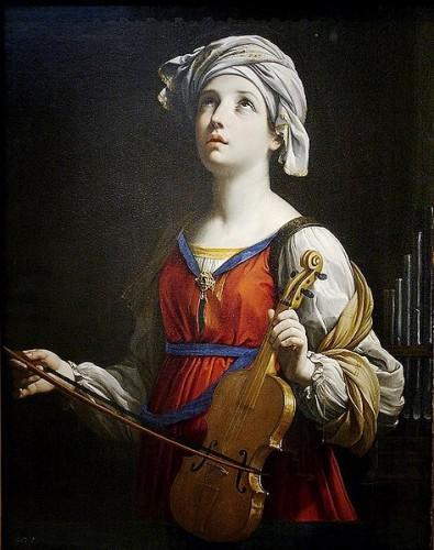 st. cecilia, patron saint of musicians